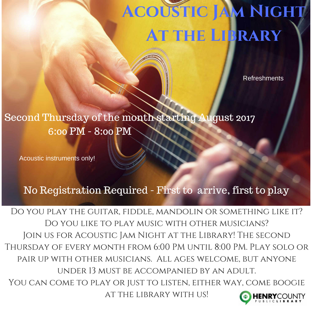 Acoustic Jam at the Library @ Henry County Public Library | Eminence | Kentucky | United States