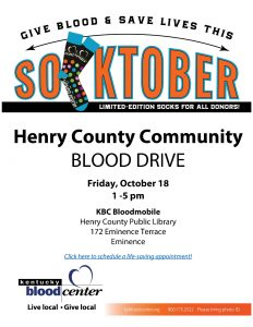 Henry County Community Blood Drive @ Henry County Public Library