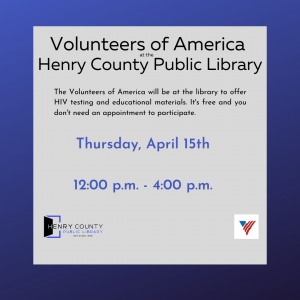 Volunteers of America at the Henry County Public Library @ Henry County Public Library