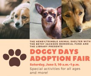 Doggie Days-Dog Adoption Fair