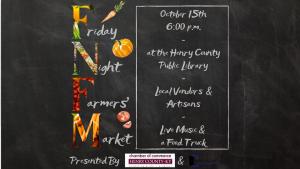 Friday Night Farmers' Market @ Henry County Public Library